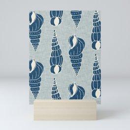 sea shell grey Mini Art Print