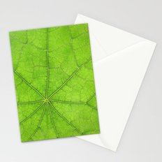 Green Leaf Veins 03 Stationery Cards