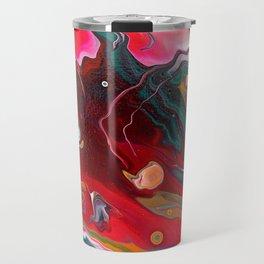 Meteor flow 12 x 12 Acrylic on Canvas Travel Mug