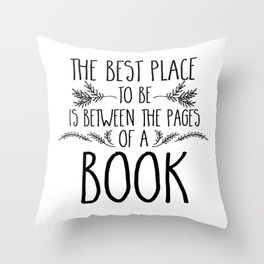 Between the Pages Throw Pillow