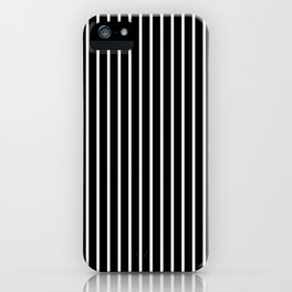 Classic White Pinstripe on White iPhone Case