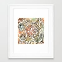 batik Framed Art Prints featuring Batik by brenda erickson