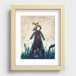 Declaration of winter Recessed Framed Print
