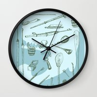 moby dick Wall Clocks featuring Moby Dick by BT Livermore