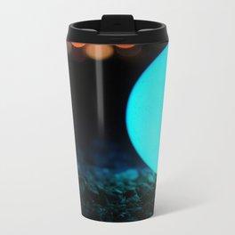 Light and Focus (Blue) Metal Travel Mug