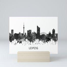 Leipzig Germany Skyline BW Mini Art Print