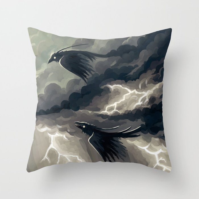 Stormbringers Throw Pillow