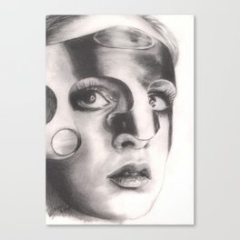 twiggy in mask... Canvas Print