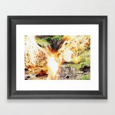 Fire Bat Framed Art Print