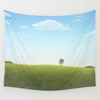 alone Wall Tapestries featuring Alone by Michael Paige Glover