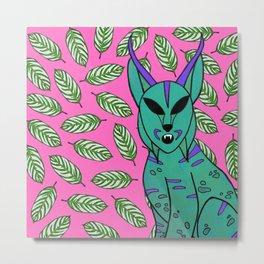 Space Lynx Metal Print