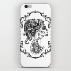 Sugar Skull Girl Cameo iPhone & iPod Skin
