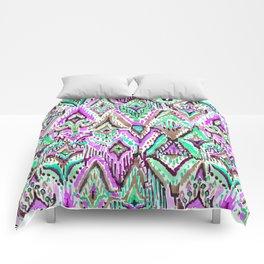Fringe Ikat Tribal Comforters