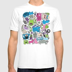 Wait, What? White MEDIUM Mens Fitted Tee