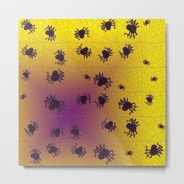 Crawling black spiders Metal Print