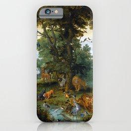 "Jan Brueghel the Elder, Peter Paul Rubens ""The Garden of Eden with the Fall of Man"" 1615 iPhone Case"