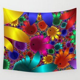 Happy Flowers Wall Tapestry