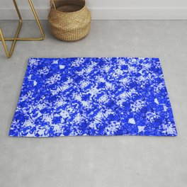 Blue and White Fluid Abstract 45 Rug