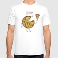Slice of Life SMALL White Mens Fitted Tee