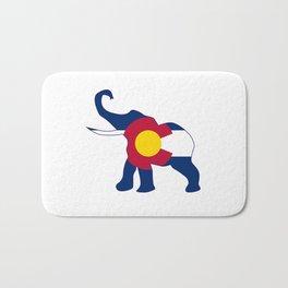 Colorado Republican Elephant Flag Bath Mat