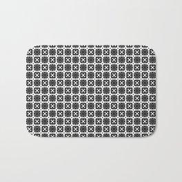 Black & White Handkerchief Pattern Bath Mat