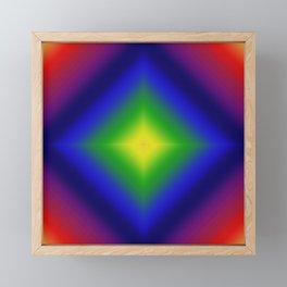 Rainbow Gradient Diamond Geometric Framed Mini Art Print