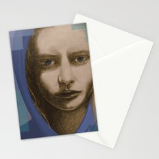 Real girl, digital world Stationery Cards