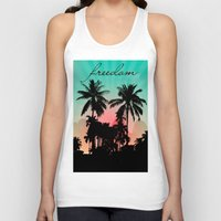 palm trees Tank Tops featuring Palm Trees by mark ashkenazi