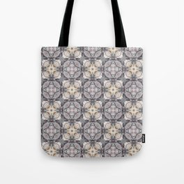 Light Soft Color Square Pattern Mandala Design Tote Bag