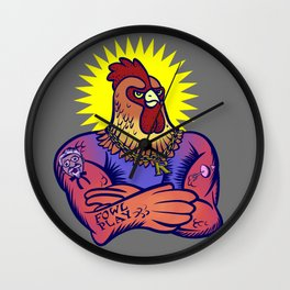 One Tough Bird Wall Clock