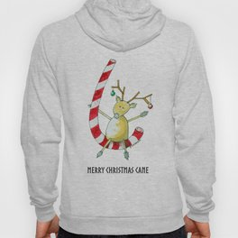 Merry Christmas Cane Hoody