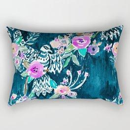 BIRD OF HEY - INDIGO Rectangular Pillow