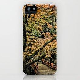 Autumn Bridge in Nara, Japan iPhone Case