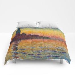 San Giorgio Maggiore by Twilight by Claude Monet Comforters