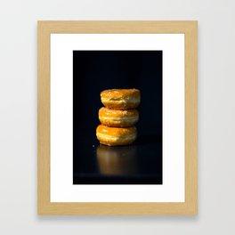 Glazed Donuts Framed Art Print