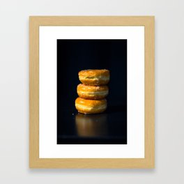 Glazed Donuts Framed Art Print