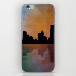 City Skyline Reflection iPhone Skin