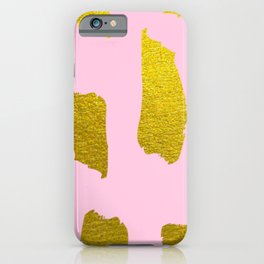 Light Pink with Gold Foil iPhone Case