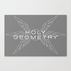 HOLY GEOMETRY (white) Canvas Print
