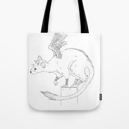 Curious Trico Tote Bag