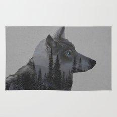 Winter Wolf Rug