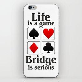 Bridge player gift, Bridge game. Contract Bride, Duplicate Bridge, Bridge lover, Bridge partner iPhone Skin
