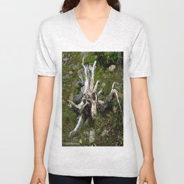 Mountain Stump Unisex V-Neck