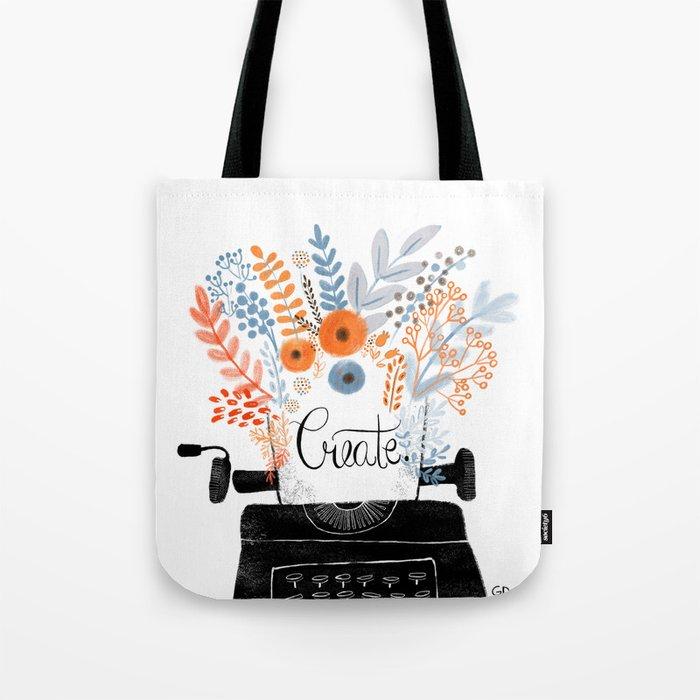 Create   Typewriter Tote Bag