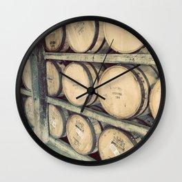 Kentucky Bourbon Barrels Color Photo Wall Clock