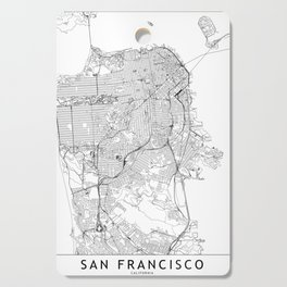 San Francisco White Map Cutting Board