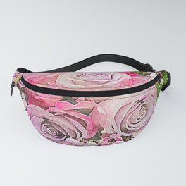 Bouquet of Pink Roses Fanny Pack