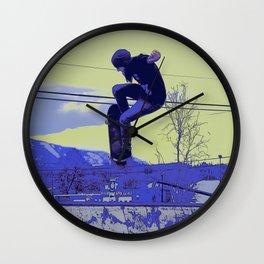 Getting Air - Skateboarder Wall Clock