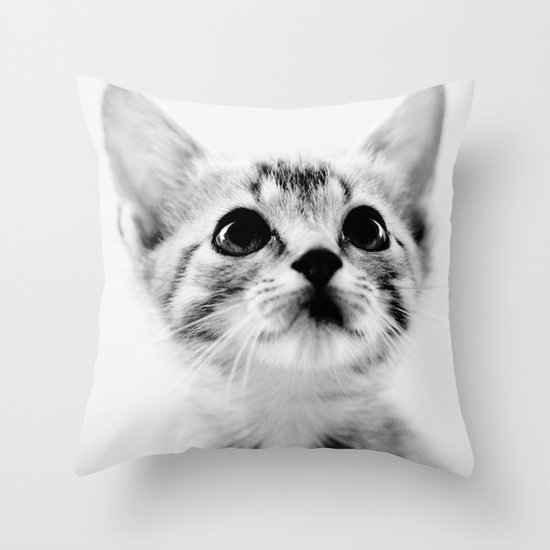 Sweet Kitten Throw Pillow