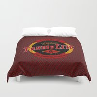 eric fan Duvet Covers featuring Team Eric by Papercut Designs
